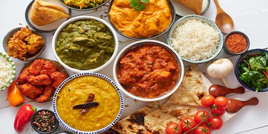 indian buffet food dishes