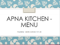 Apna Kitchen offers catering services